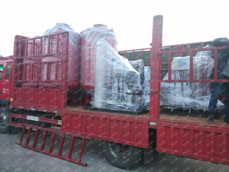 Package for delivery of the pump controlled pressurisation system1