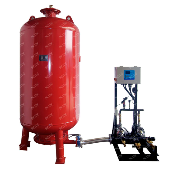 pump controlled pressurisation unit with expansion tank