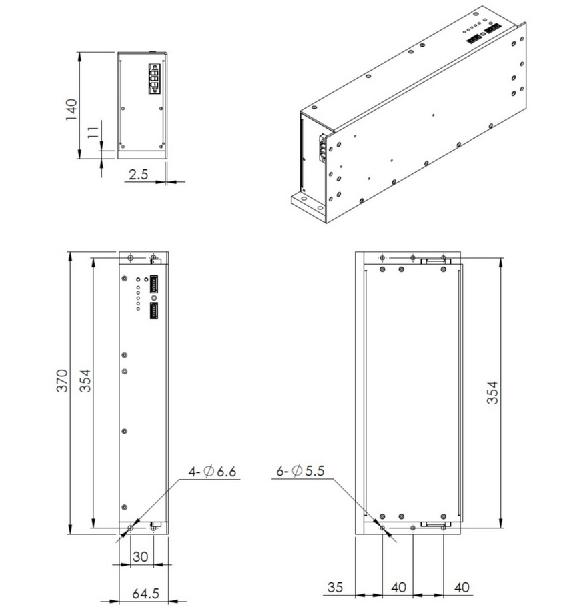 3kw ballast dimensions