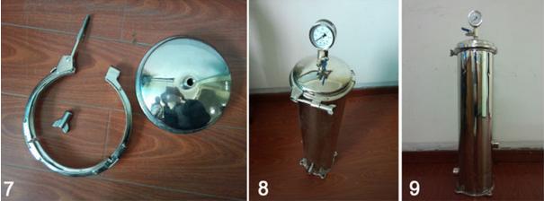 cartridge filter housing 7