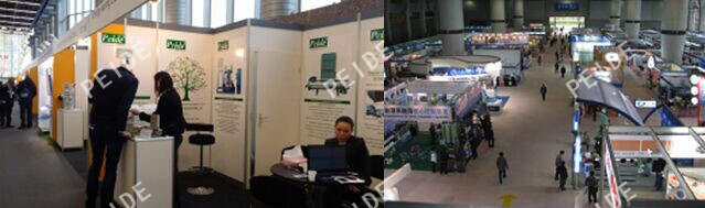 Our sales and technicians enthusiastically introduced the products in details to the visitors