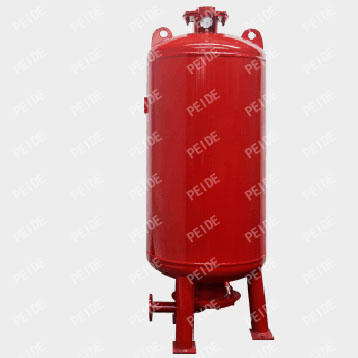The configuration of air diaphragm pressure tank