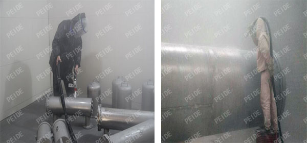 Water Treatment Equipment Sandblasting Workshop