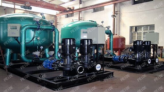 configuration of sand filter