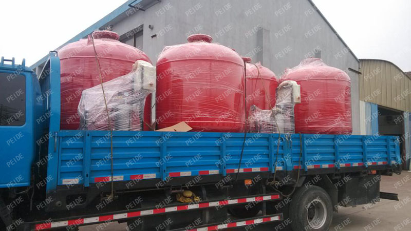 Package for delivery of the pump controlled pressurisation system2