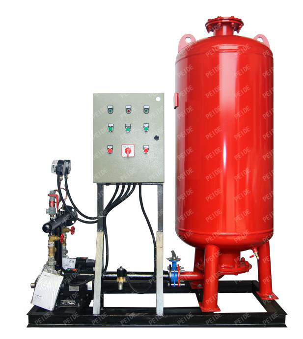 pump controlled pressurisation unit with pressure tank
